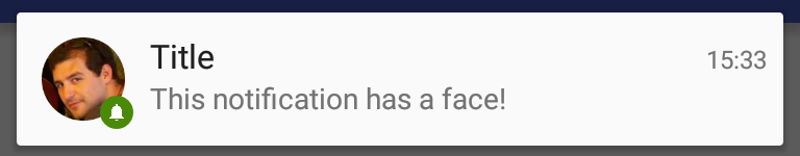 Face styled notification